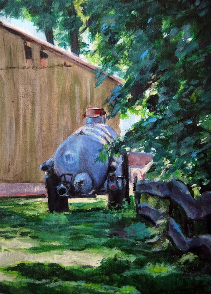 """In the sunny Country"" original fine art by Ulrike Miesen-Schuermann"