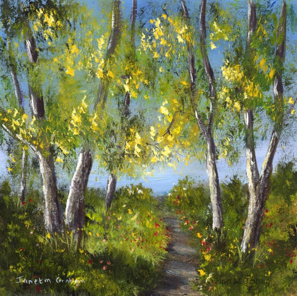 """Spring Forest No 2"" original fine art by Janet Graham"