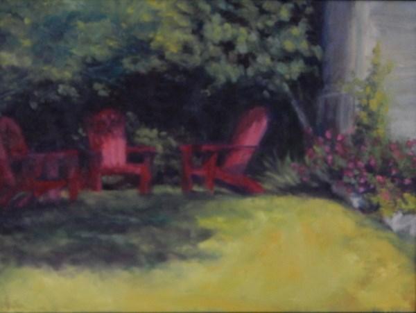 """""""Shady Retreat"""" original fine art by Lori L. Lamb"""