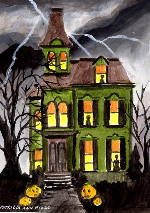 """""""A Haunted Haunt"""" original fine art by Patricia Ann Rizzo"""
