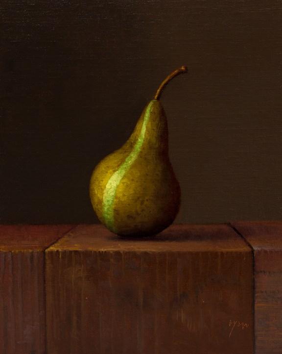"""""""Bosc Pear (The Green Stripe - La Raie Verte)"""" original fine art by Abbey Ryan"""