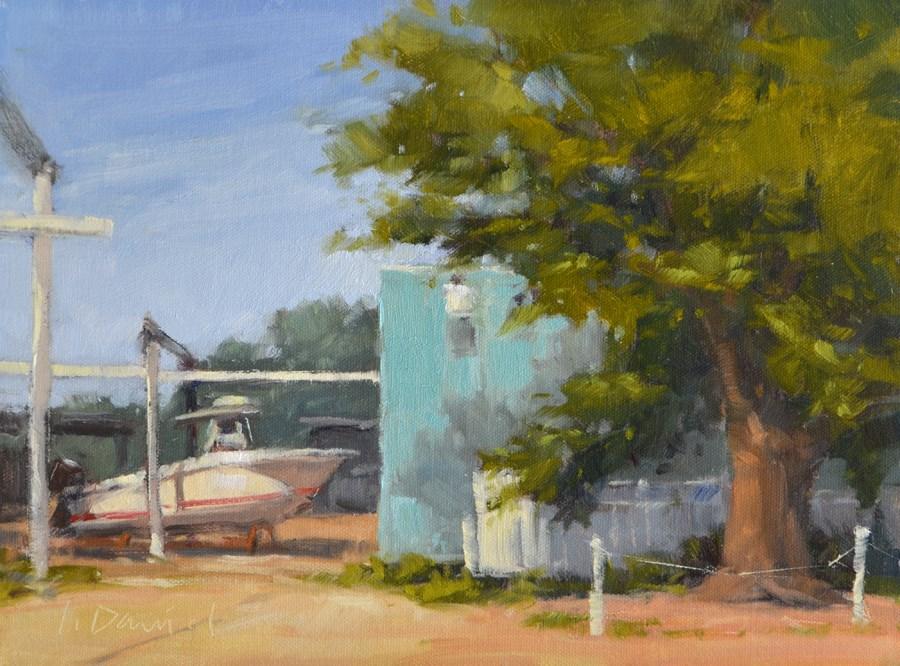 """Boat Launch"" original fine art by Laurel Daniel"