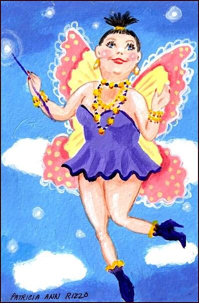 """""""The Diet Fairy"""" original fine art by Patricia Ann Rizzo"""