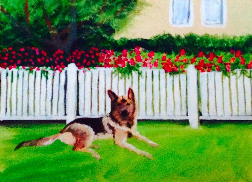 """Cleo"" original fine art by Brenda Smith"