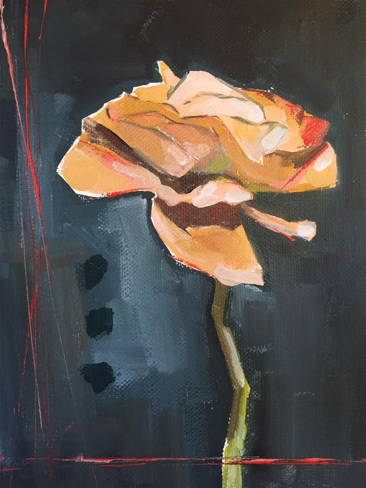 """563 Garden Rose"" original fine art by Jenny Doh"