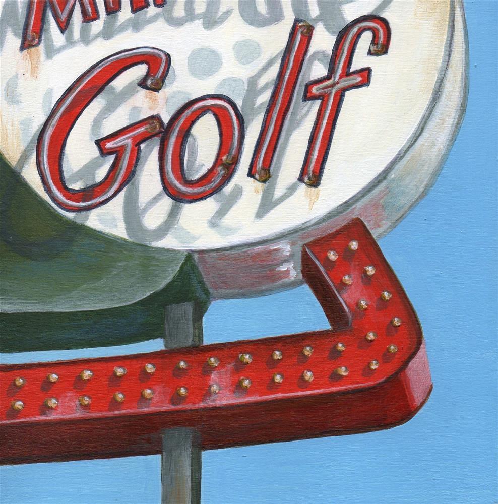 """Golf"" original fine art by Debbie Shirley"