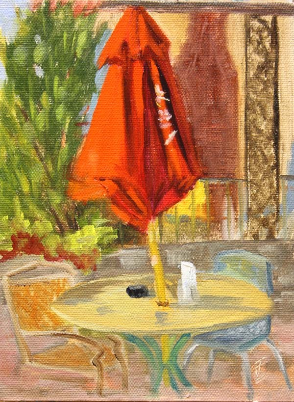 """""""Table for Two"""" original fine art by Jane Frederick"""