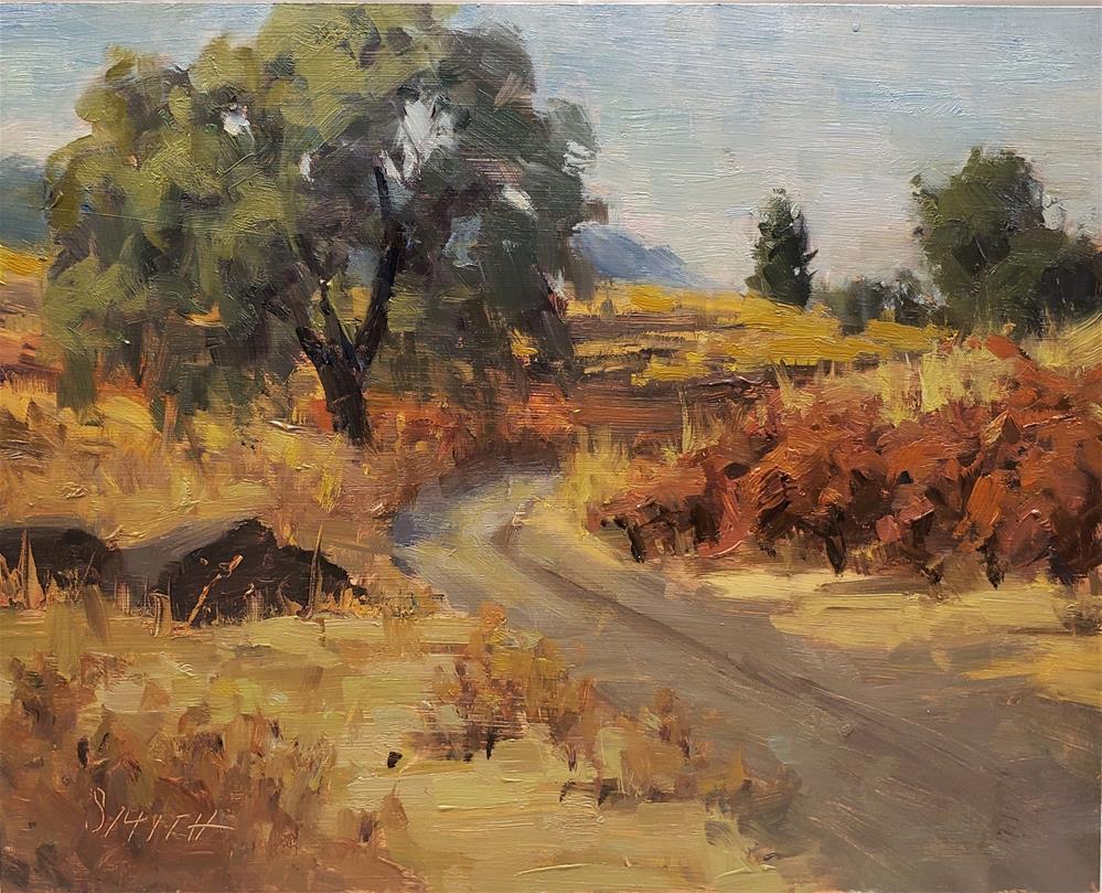 """Sonoma's Red Vines "" original fine art by Barbie Smith"