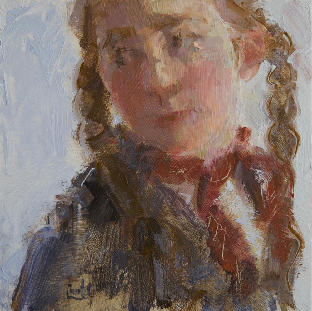 """She Wore Two Braids"" original fine art by Chantel Barber"