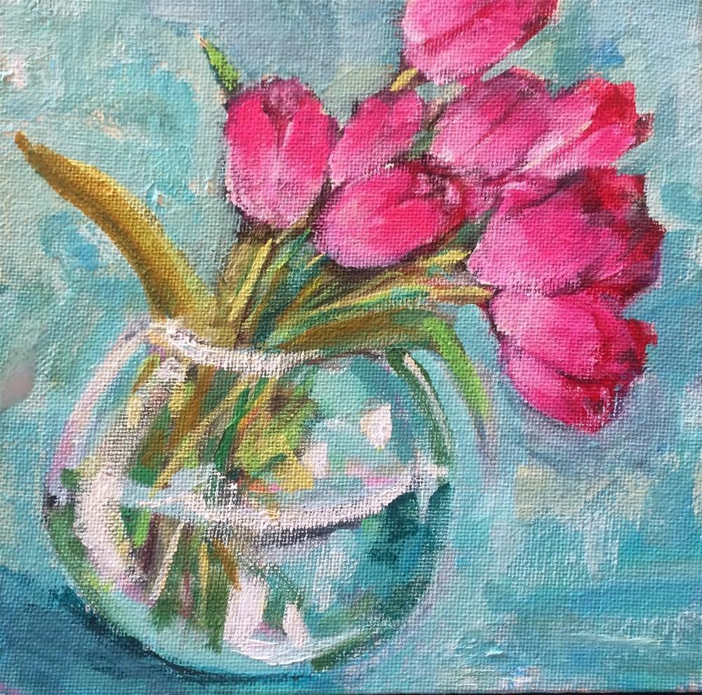 """Lifting Spirits, 6x6 in Acrylic Painting by Kelley MacDonald"" original fine art by Kelley MacDonald"