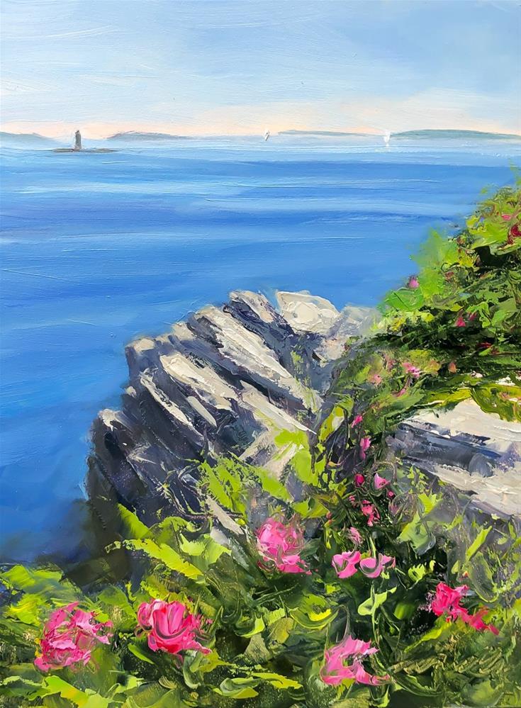 """#215 -Rosa Rugosa-Fort Williams-Maine"" original fine art by Sara Gray"