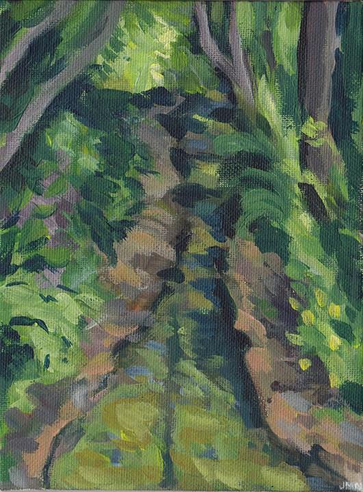 """Narrow Stream"" original fine art by J M Needham"