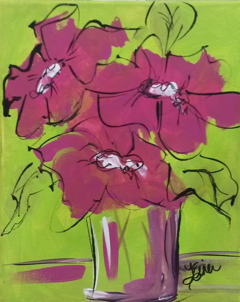 """Pink Ink"" original fine art by Terri Einer"