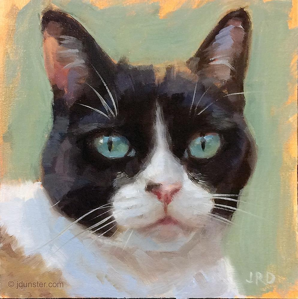 """Multi-Color Cat [Studio Clearance]"" original fine art by J. Dunster"