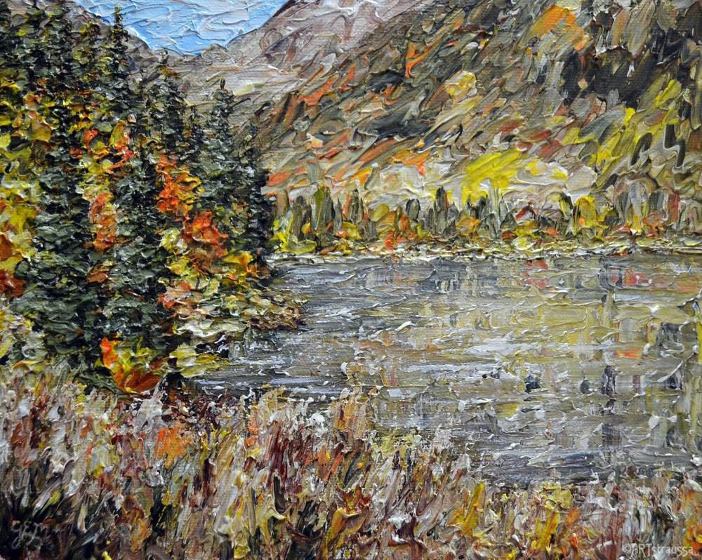 """""""Fall Time In B.C."""" original fine art by Gloria Ester"""