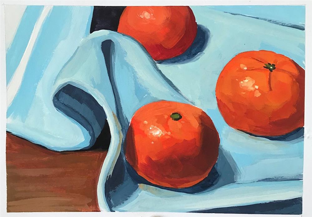 """Tangerines"" original fine art by Sharon Schock"