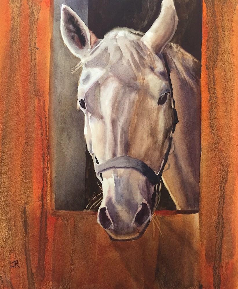 """""""All Ears"""" original fine art by June Rollins"""