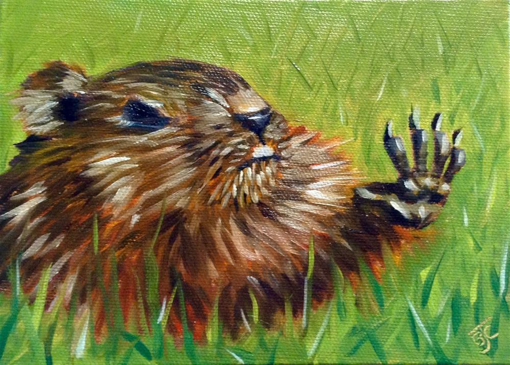 """High Five"" original fine art by Bobbie Cook"