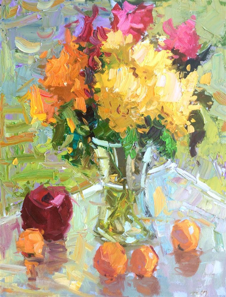 """Floral Fiesta "" original fine art by Michael Clark"