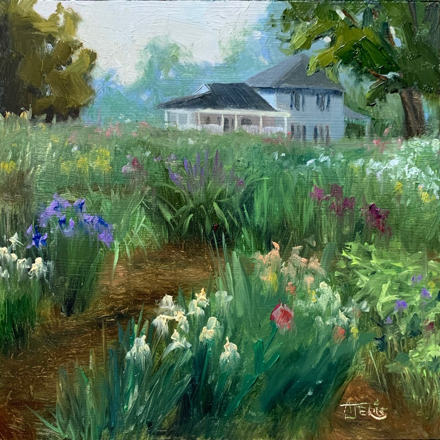 """June Flower Farm"" original fine art by Andrea Jeris"