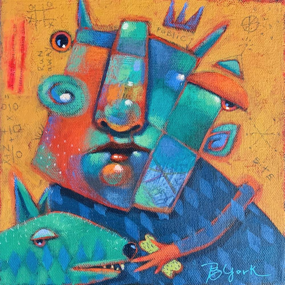 """St. Roger Considers Biting The Hand That Feeds"" original fine art by Brenda York"