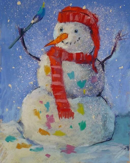 """""""Sharing Pastels with Children"""" original fine art by Karen Margulis"""