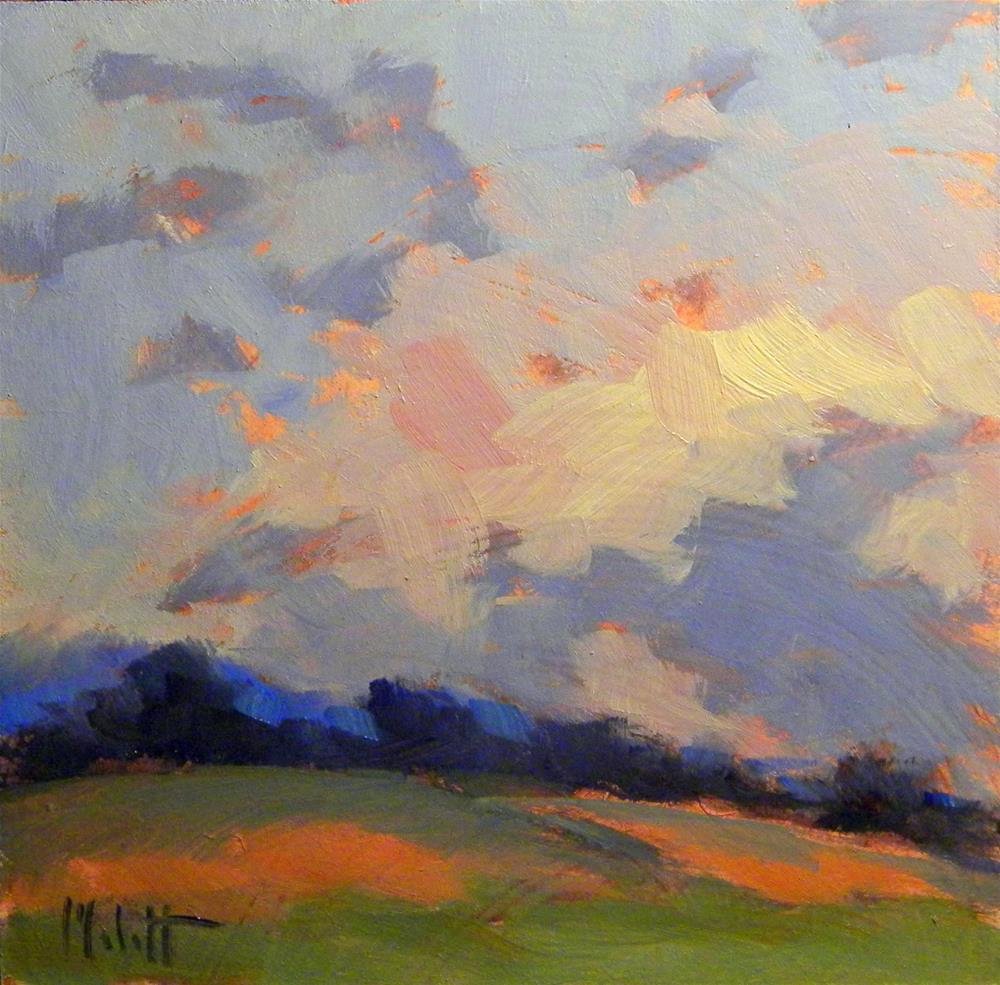 """Convertible Sunset Contemporary Impressionism"" original fine art by Heidi Malott"