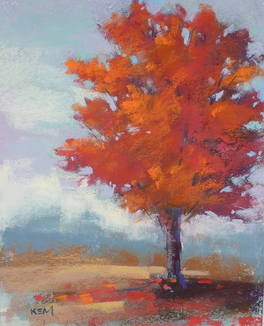 """How To Paint a Red Tree"" original fine art by Karen Margulis"