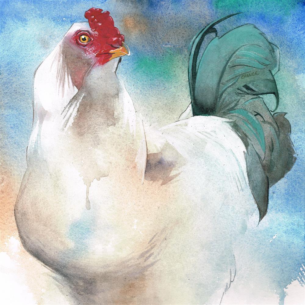 """""""No. 2 Chicken"""" original fine art by Annabel Chance"""