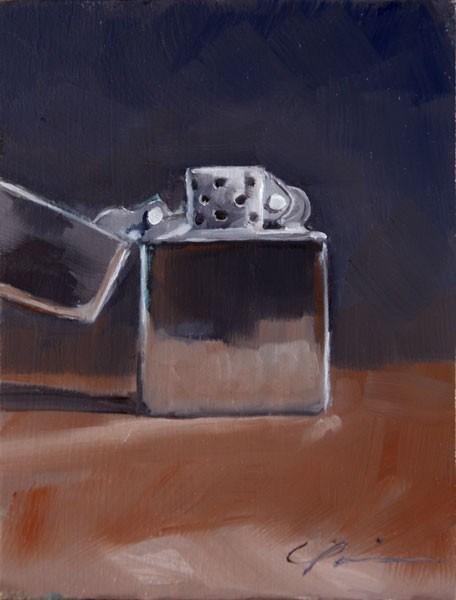 """Zippo"" original fine art by Clair Hartmann"