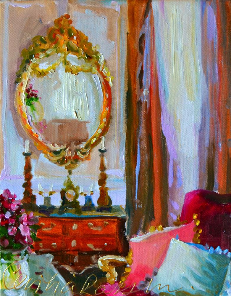 """MIROIR D'OR"" original fine art by Cecilia Rosslee"