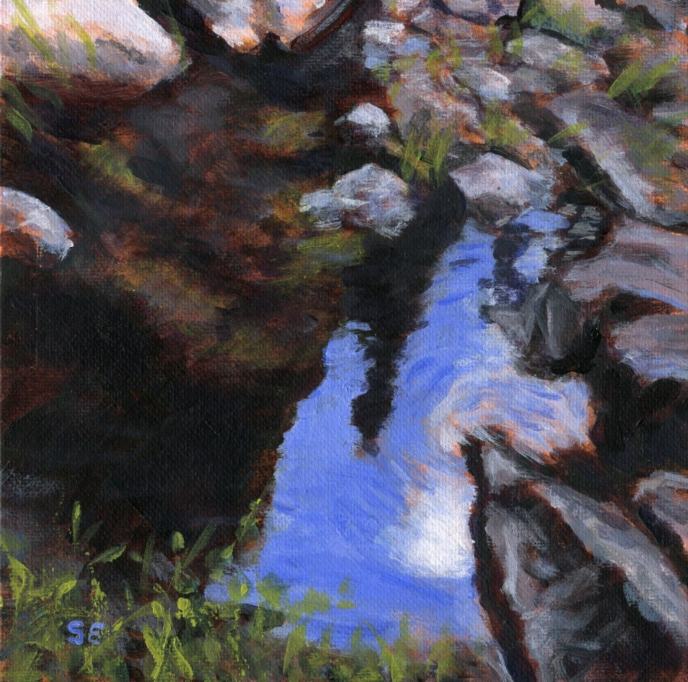 """""""Pool of Tranquility"""" original fine art by Stanley Epperson"""