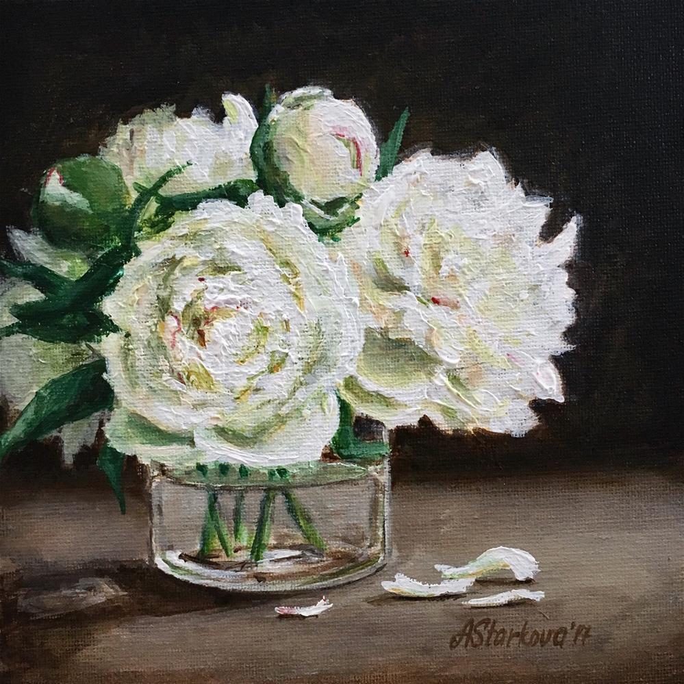 """Peony grace"" original fine art by Anna Starkova"