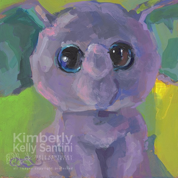 """Baby Boo Peanut"" original fine art by Kimberly Santini"