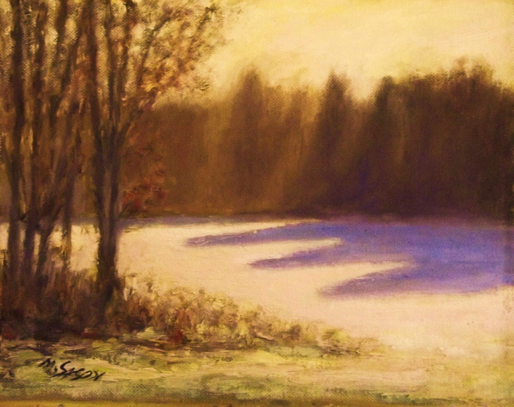 """Sunny winter afternoon"" original fine art by Michael Sason"