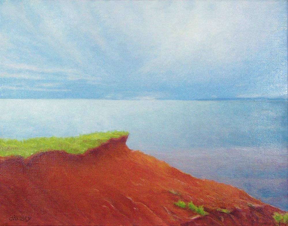 """""""Red Coast"""" original fine art by J Kelsey"""