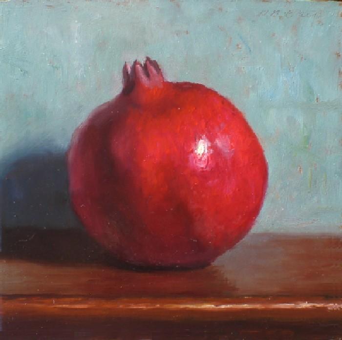 """""""Pomegranate"""" original fine art by Debra Becks Cooper"""