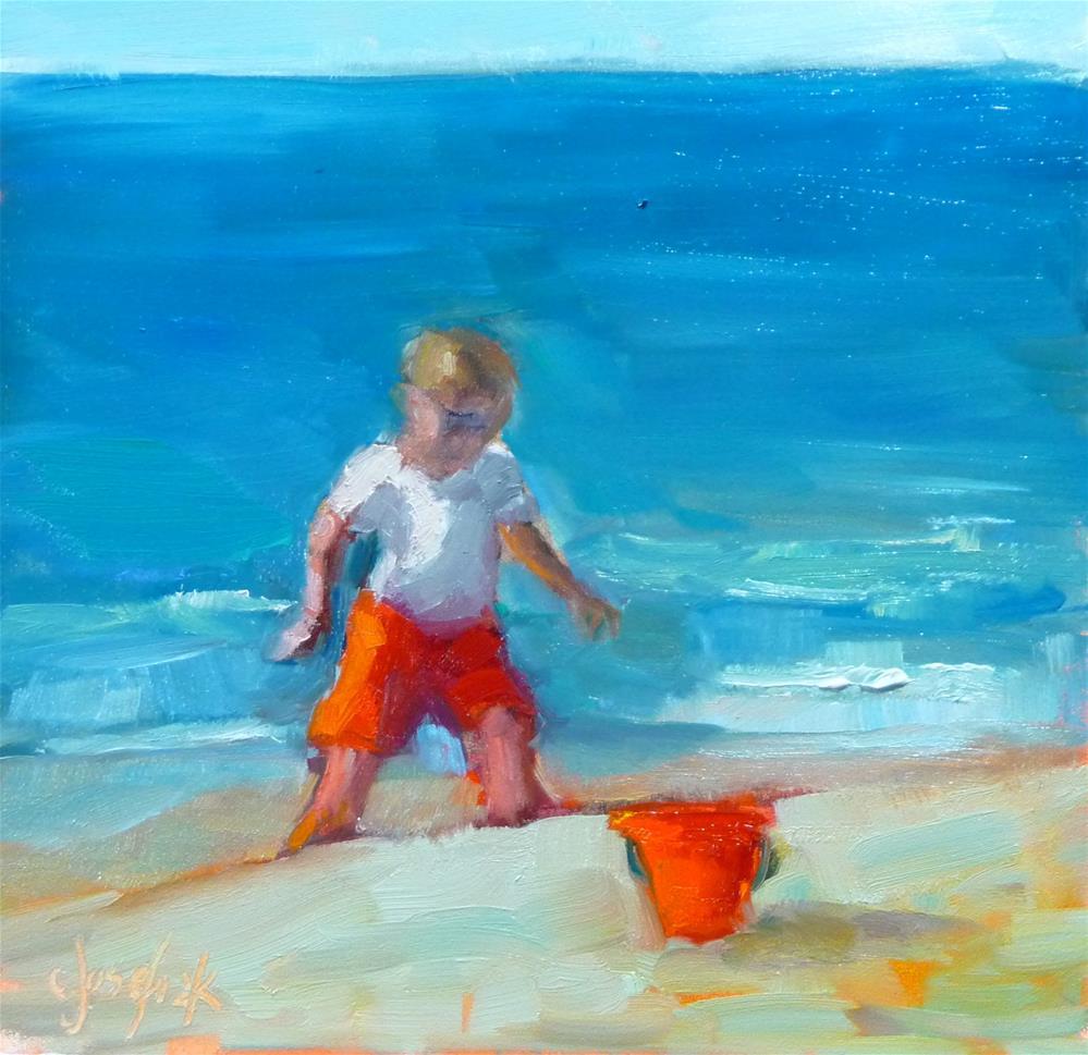 """Day at the Beach"" original fine art by Carol Josefiak"