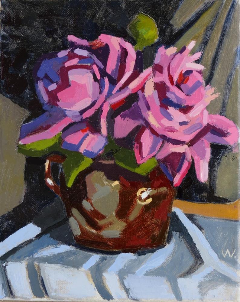 """Big Peonies"" original fine art by Joan Wiberg"