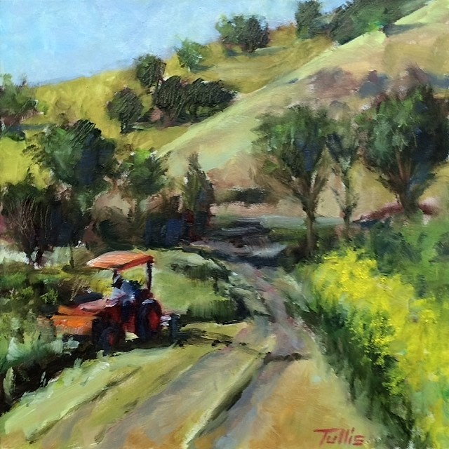 """""""Spring Mowing"""" original fine art by John Tullis"""