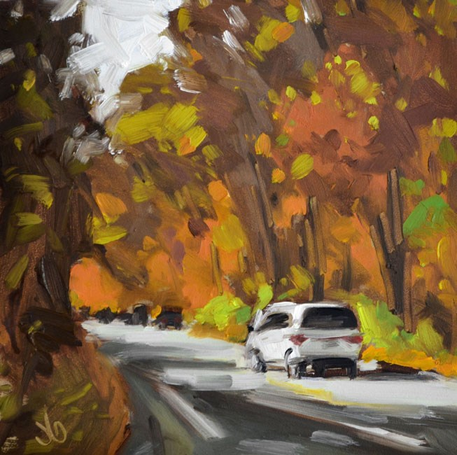 """Into Fall"" original fine art by Jessica Green"
