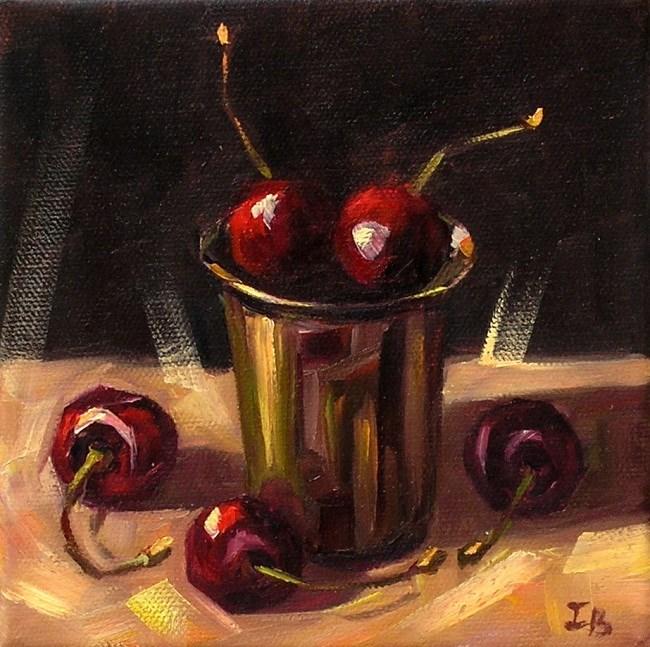"""""""Cherries"""" original fine art by Irina Beskina"""