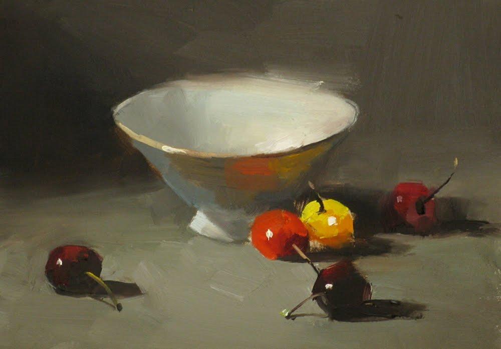 """""""Cherry Dance"""" original fine art by Qiang Huang"""