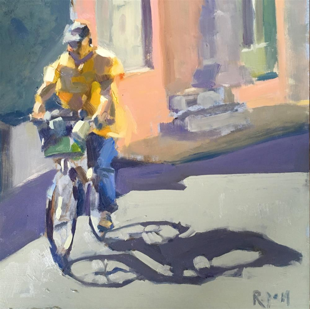 """The Yellow Jersey"" original fine art by Rupam Barthakur"