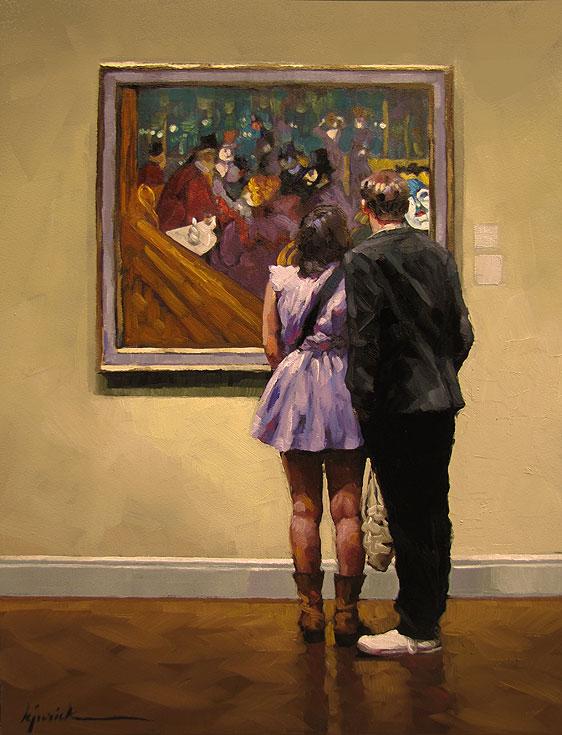 """""""Short Visit"""" original fine art by Karin Jurick"""