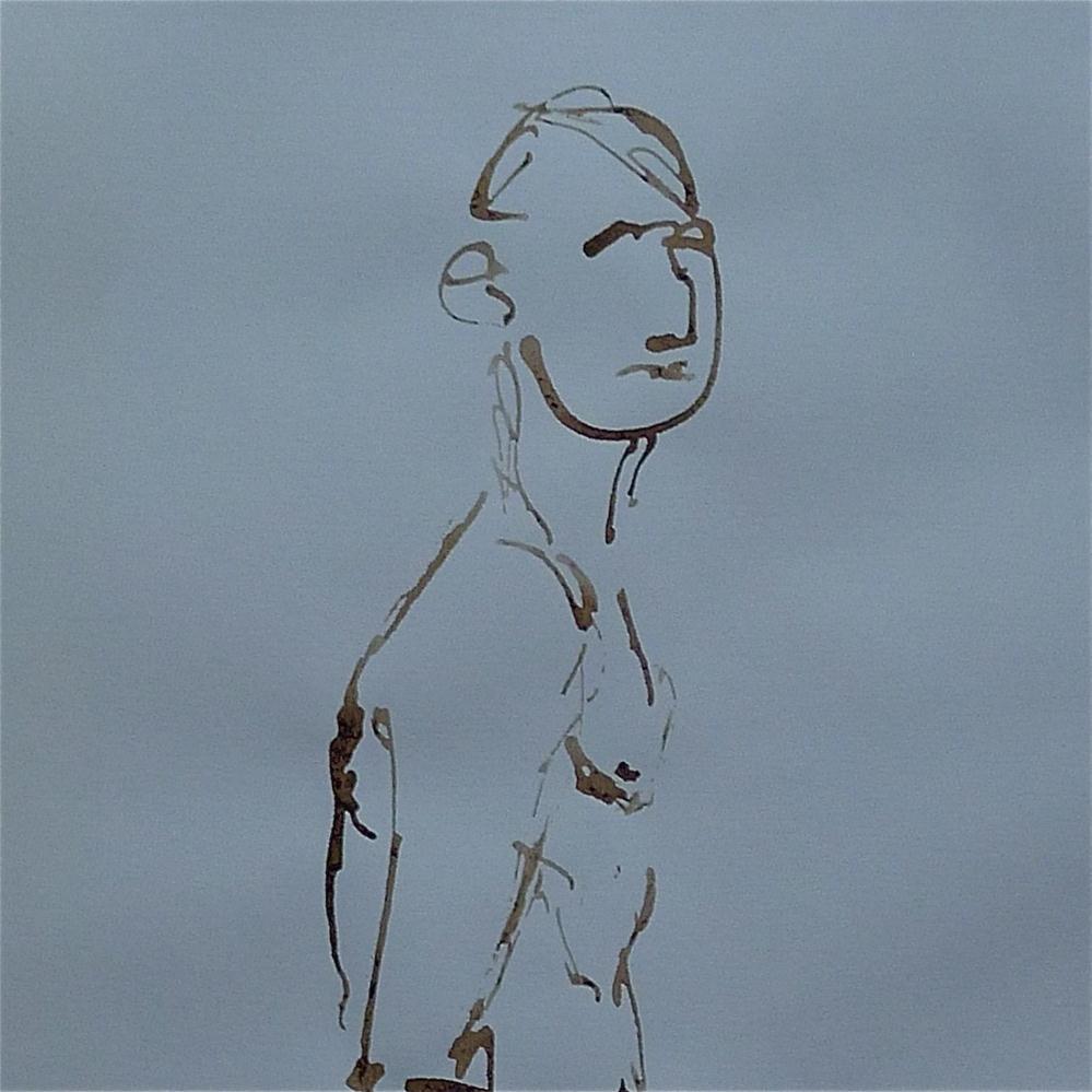 """Man with aquiline nose"" original fine art by Ulrike Schmidt"