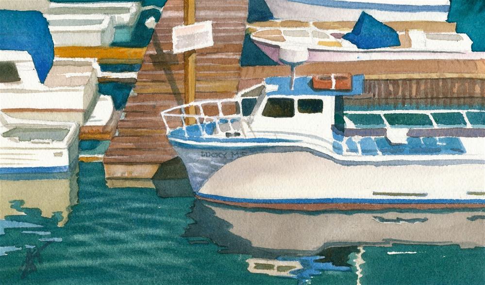 """Docks - Depoe Bay, OR"" original fine art by Mark Allison"