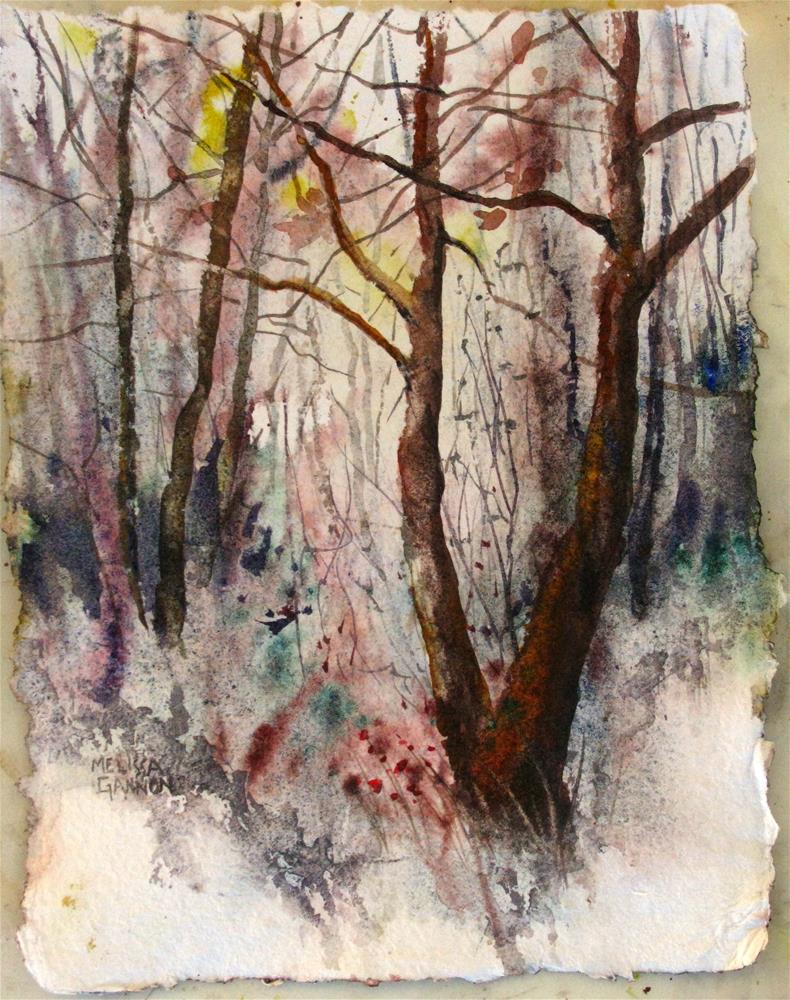 """Quiet of Winter"" original fine art by Melissa Gannon"