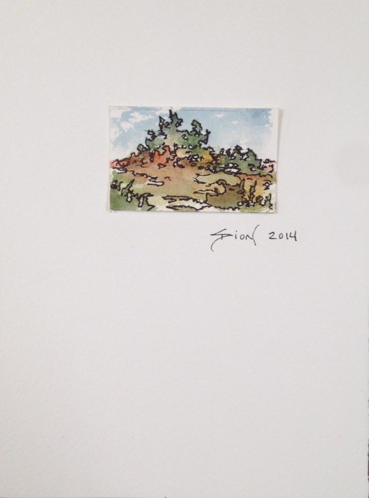 """Miniature Landscape #16"" original fine art by Sue Dion"