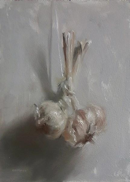 """String of Garlic"" original fine art by Neil Carroll"